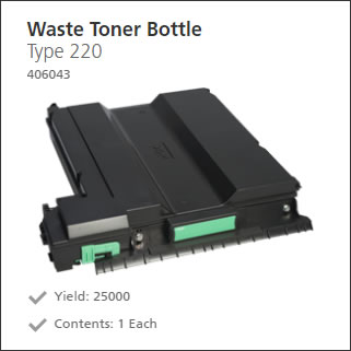 Ricoh Waste Toner Collector 406043